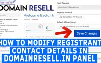 How to Modify Registrant Contact details in Domain Resell.in Panel