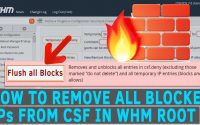 How to Remove all blocked IPs from CSF in WHM root