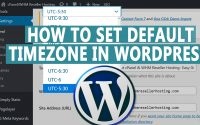 How to Set default timezone in WordPress website