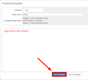 How to Create and Use predefined replies in WHMCS