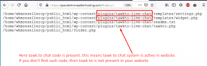 How to know if tawk.to chat code is present in your website or not