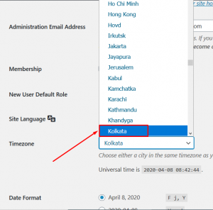 How to Set Default Timezone in WordPress