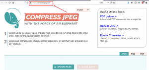 How to Optimize/Compress JPEG Images used in your website