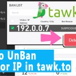 How to Unban A Visitor IP in tawk.to Online Chat System