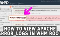 How to view Apache error logs in WHM root