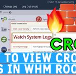How to view Cron log in WHM root
