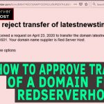 how to approve transfer of any domain in redserverhost