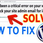 "How to Fix WordPress error ""There has been a critical error on your website"""