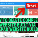 How to delete complete website built via Sitepad Webiste Builder