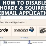 How to disable 'Horde & Squirrel' Webmail application from WHM Root