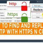 How to find and replace all http with https in cpanel