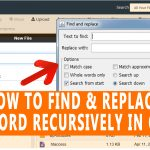 How to find and replace a keyword recursively in cPanel