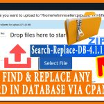 How to find and replace any keyword in your database via cPanel