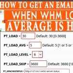How to Get Email alert whenever WHM Load Average is high