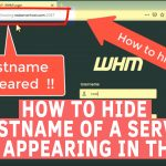 How to hide hostname of server from appearing in the URL