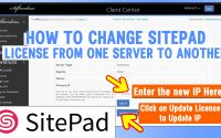 How to change Sitepad License from one Server IP to another