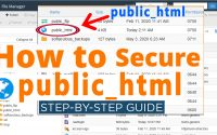 How to secure 'public html'