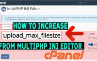 How to increase upload max size from Multi PHP INI editor