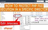 How to protect PHP file execution in a specific directory
