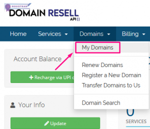 How to Enable/Disable Registrar lock status in DomainResell.in panel