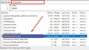 How to Find cPanel account deletion logs via FileZilla