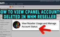 How to Find which cPanel accounts were deleted in a WHM Reseller
