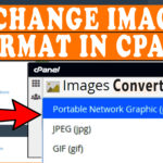 How to Change image formats in cPanel