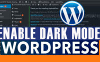 How to use Dark Mode on your WordPress dashboard