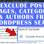 How to exclude Posts,Pages,Categories or Authors from WordPress search