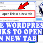 How to use WordPress to open External Links in a new Tab or Window