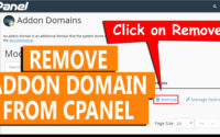 How to remove an Addon domain from cPanel