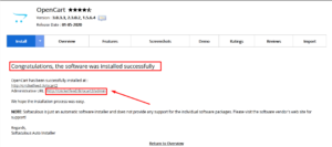 How to Install OpenCart in cPanel using Softaculous