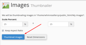 How to create Image Thumbnails in cPanel