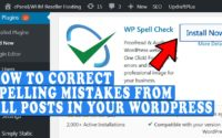 How to correct spelling mistakes from all the posts in WordPress