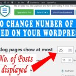 How to change the number of WordPress posts displayed on your Blog page
