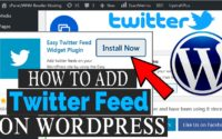 how to add twitter feed in your WordPress site