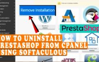 How to uninstall Prestashop from cPanel using Softaculous