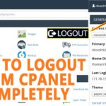 HOW TO LOGOUT FROM CPANEL