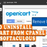 How to Uninstall OpenCart from cPanel using Softaculous