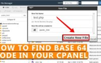 "How to find ""base 64"" code in your whole cPanel"
