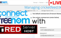 How to Connect Freenom domain to Redserverhost hosting