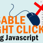 How to disable right click on your website using javascript