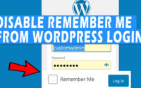 "How to disable ""Remember Me"" option from WordPress login"