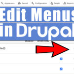 How to Edit/Add Menus in Drupal website