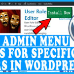 How to Hide Admin Menu Items for Specific Users in WordPress