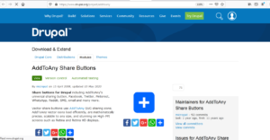 How to Add Social Media Share Buttons to Drupal