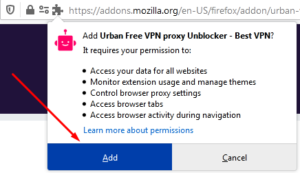 How to use UrbanVPN in Firefox browser