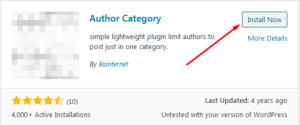 How to set WordPress to restrict an Author to a specific category