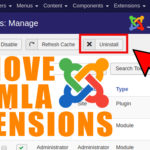 How to Remove/Uninstall Joomla Extensions