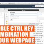 How to disable CTRL key combinations on your webpages